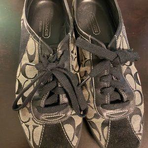 Black Coach sneakers size 10